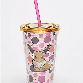 Spots Pokemon Eevee Cup With Straw - 16 oz. - Spencer's