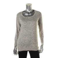Joie Womens Bronx B Cotton Space Dot Pullover Sweater