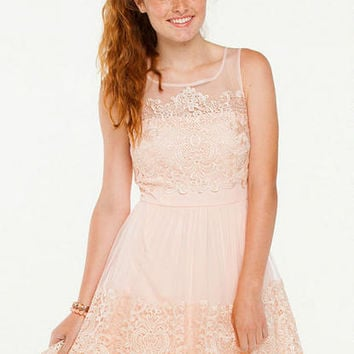 Ava Lace Trim Party Dress