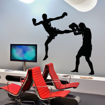 Vinyl Wall Decal Sticker MMA Kick #5064