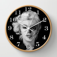 Dead Celebrities Series Half Skull Wall Clock by Kristy Patterson Design