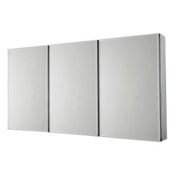 Pegasus 36 in. x 31 in. Recessed or Surface Mount Medicine Cabinet in Tri-View Beveled Mirror SP4589 at The Home Depot - Mobile
