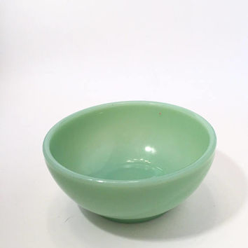 Fire King Jadite Bowl, Green Glass Bowl, Jadeite, Jadite Cereal Bowl, Chili Bowl