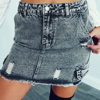 All About Me Skirt: Dusty Black