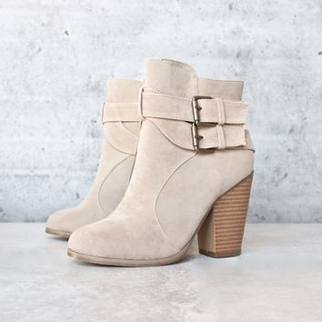 final sale - 'trolley' double buckle bootie - more colors