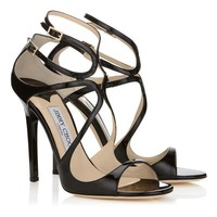 Black Patent Leather Sandals | Strappy Sandals | Lance | JIMMY CHOO Sandals