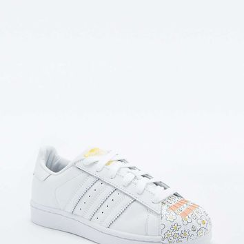 adidas Originals Pharell Supershell Superstar White Trainers - Urban Outfitters