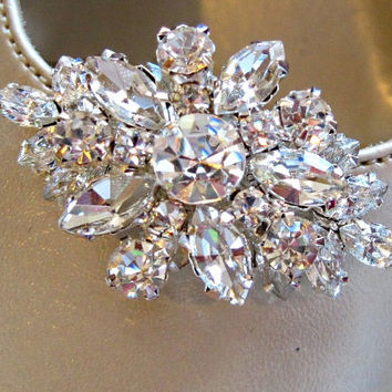 Sale, Wedding Shoe Clips, Vintage Style,Rhinestone Crystal, Bridal shoe clips, Crystal Bouquet, wedding Accessories