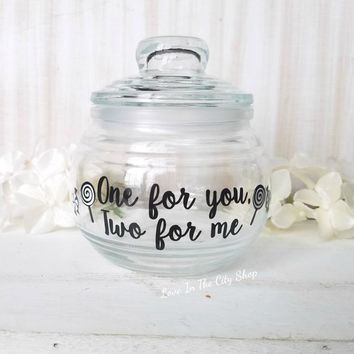 One For You, Two For Me Candy Jar