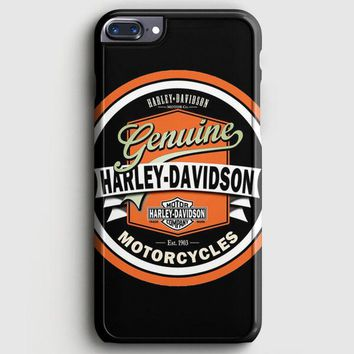 Harley Davidson Motorcycles Typography Art iPhone 7 Plus Case