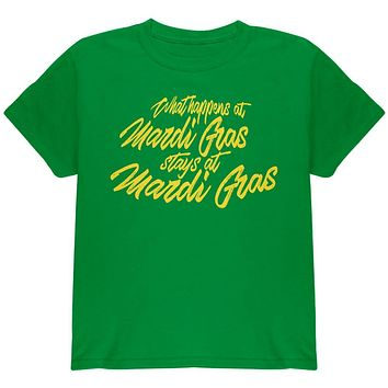 What Happens at Mardi Gras Stays Youth T Shirt