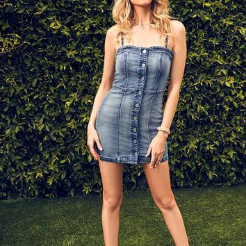 Ariana Denim Bodycon Dress at Guess