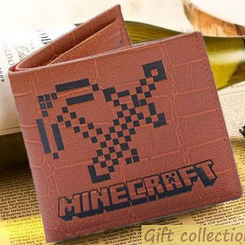 Minecraft New arrival wallet Leather, size 12 x 10cm Luxury leather