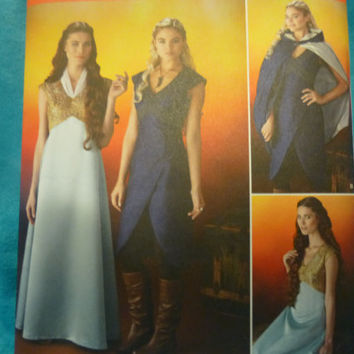 SImplicity 1246: Game of Thrones inspired Daenerys Targaryen/Margaery Tyrell Costumes