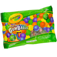 Crayola Color Your Mouth Gumballs: 40-Piece Bag