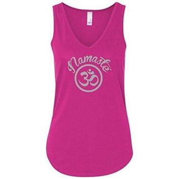 Yoga Clothing for You Womens Namaste OM Flowy Tank Top