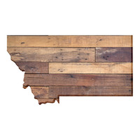 Montana Faux Wooden wall decal