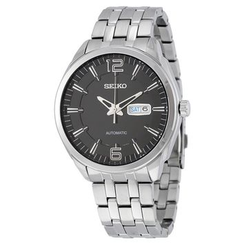 Seiko Recraft Automatic Black Dial Stainless Steel Mens Watch SNKN47