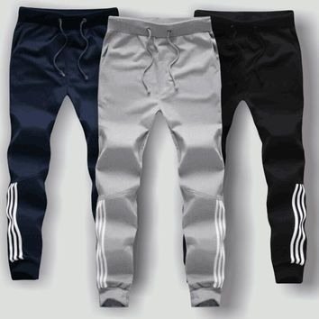 Fashion Autumn pant for men stripe pluz Size sweatpants Fall Wear harem male dress Stylish one piece sportwear solid cotton 3