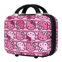 FAB New York Hello Kitty Stripes Cosmetic Case (Pink)