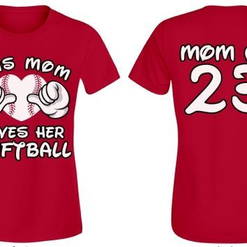 Personalize a This Softball Mom T-Shirt