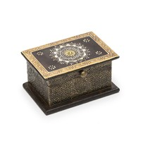 Antiqued Metal Henna Box - Matr Boomie