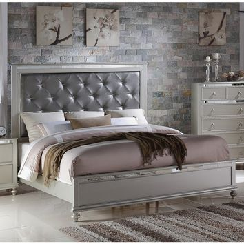LYKE Home Nevaeh Silver Bed | Overstock.com Shopping - The Best Deals on Beds