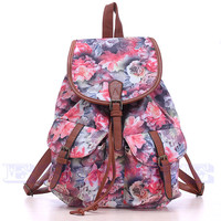 New Vintage Women's Canvas Travel Satchel Shoulder Bag Backpack School Rucksack