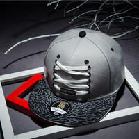Summer Style Shoelace Decoration Casual Baseball Cap Harajuku Hiphop Hat Gorras Casquette Snapback Hat Basketball Brand New