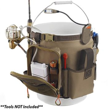 Wild River RIGGER 5 Gallon Bucket Organizer w/Light, Plier Holder & Retractable Lanyard