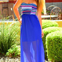 SOMETHING TO TALK ABOUT CHIFFON MAXI DRESS
