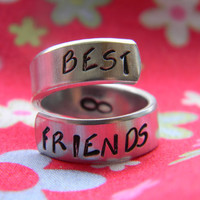 best friends forever aluminum ring