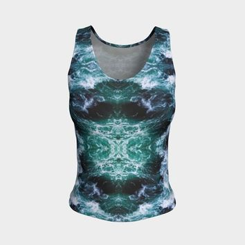Ocean Tank | Hippie Clothes | Festival Clothing | Boho Bohemian | Psychedelic | Kawaii Clothing | Rave | Eco Friendly Nature Abstract Cute