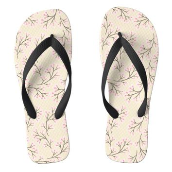 cherry blossom yellow flip flops | Zazzle.co.uk