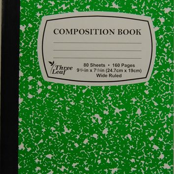 Green Marble Composition Notebook Case Pack 48