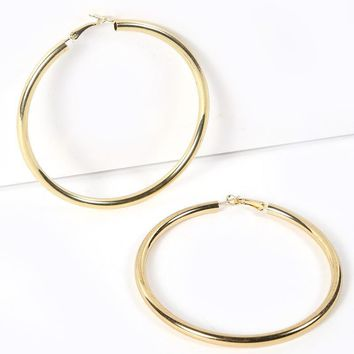 Large Hoop Gold Earring