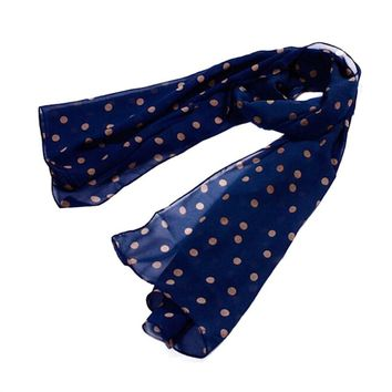 Stylish Polka Dots Chiffon Scarf Sunscreen Long Scarves Sun Block Shawl Wraps For Women Girls 150 x 48 cm
