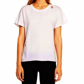 Rag & Bone/JEAN Embroidered Vintage Crew Heart Embroidered T-Shirt