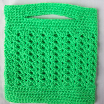 Purse, Crochet Purse, Crochet Green Boutique Purse, Spring Green Crochet Bag, Summer Purse