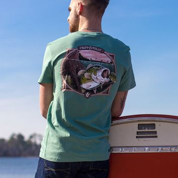 Bass Underwater T-Shirt in Light Green by Fripp & Folly