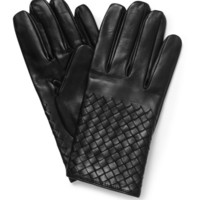 Bottega Veneta Intrecciato Silk-Lined Leather Gloves | MR PORTER