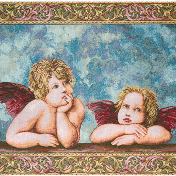 Raffaellos Angels Tapestry Wall Art Hanging