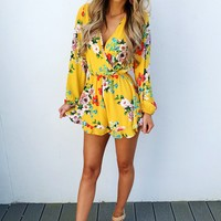 Sun Closing In Romper: Multi