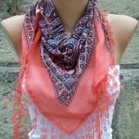 Hot Pink Cotton Scarf by Fatwoman