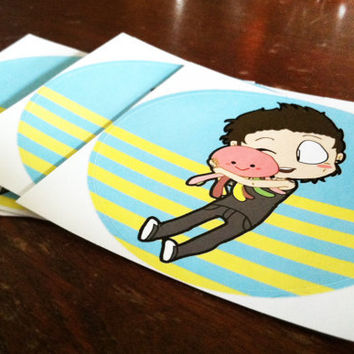 Austin & Squidgy sticker