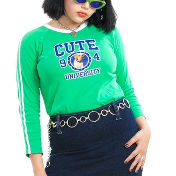 Vintage 2005 Cute University Top - One Size Fits Many