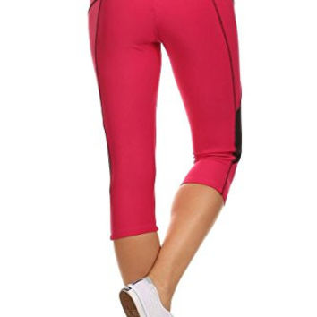 Always Athletic Yoga Capri for Women - Sport Capris with BEST Fabric-  Fits Large to XLarge