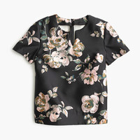 J.Crew Womens Collection Silk-Wool Top In Painterly Floral