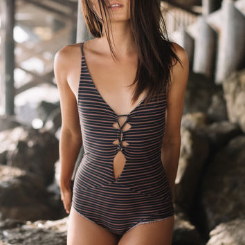 Acacia Swimwear || Kokomo one piece in dark classic