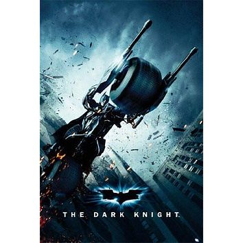 BATMAN THE DARK KNIGHT POSTER Motorcycle RARE NEW